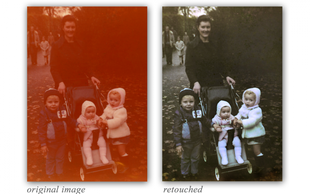 Photograph restoration – colour fixing