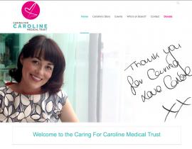 Caring for Caroline Medical Trust website