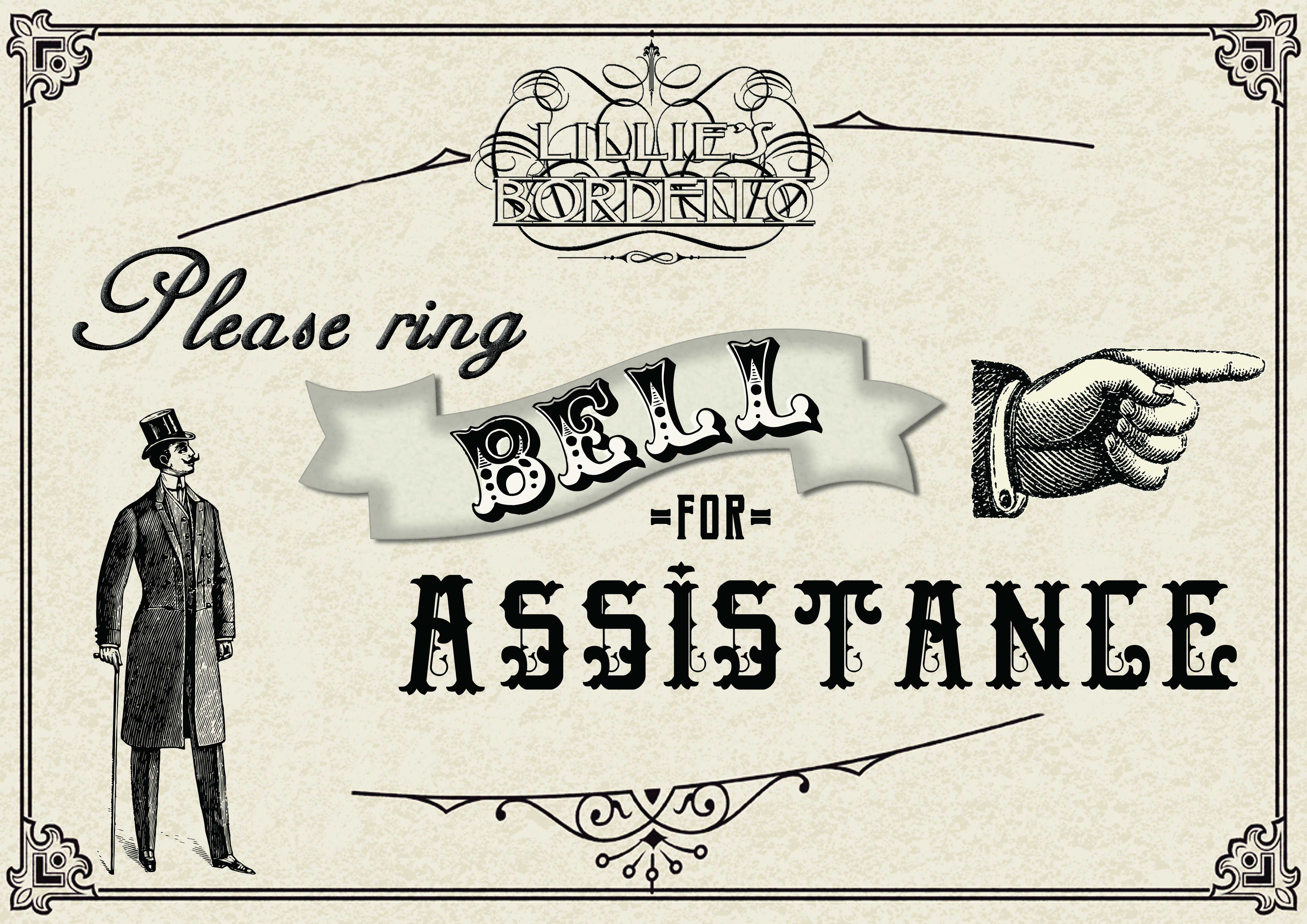 """Ring Bell for Assistance"" poster"