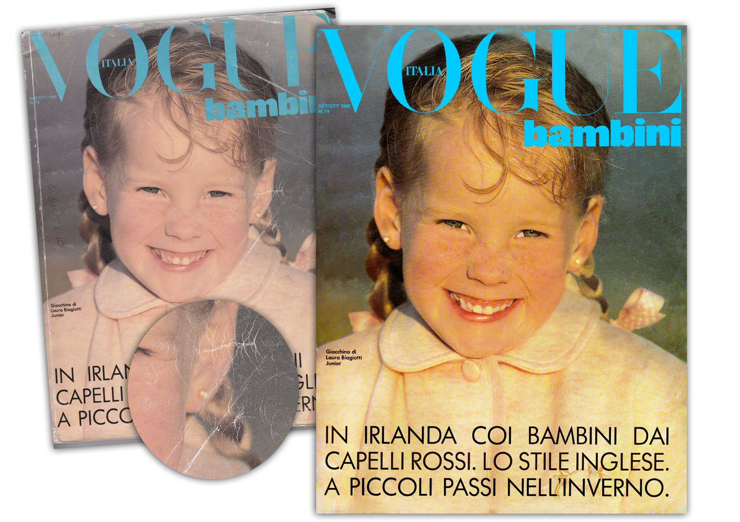 Italian Vogue 1988 (before & after)