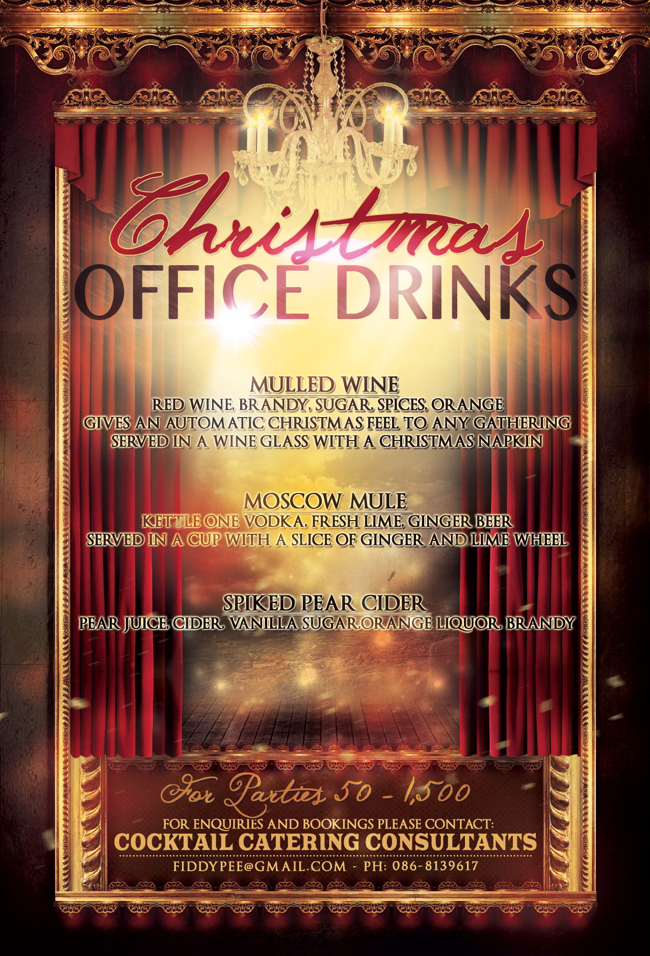 Christmas party poster advertisement