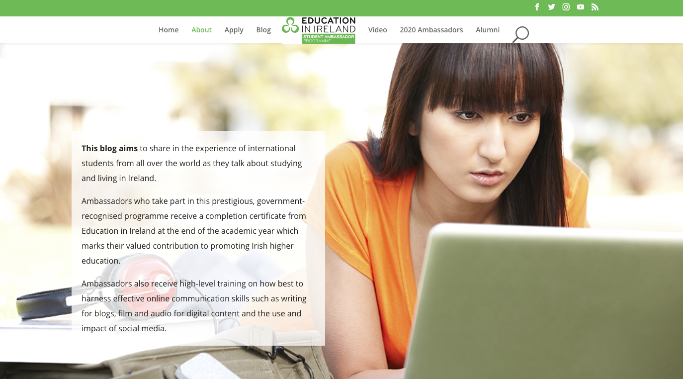 Education in Ireland student ambassador programme